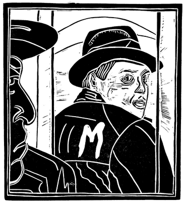 Peter Lorre woodcut