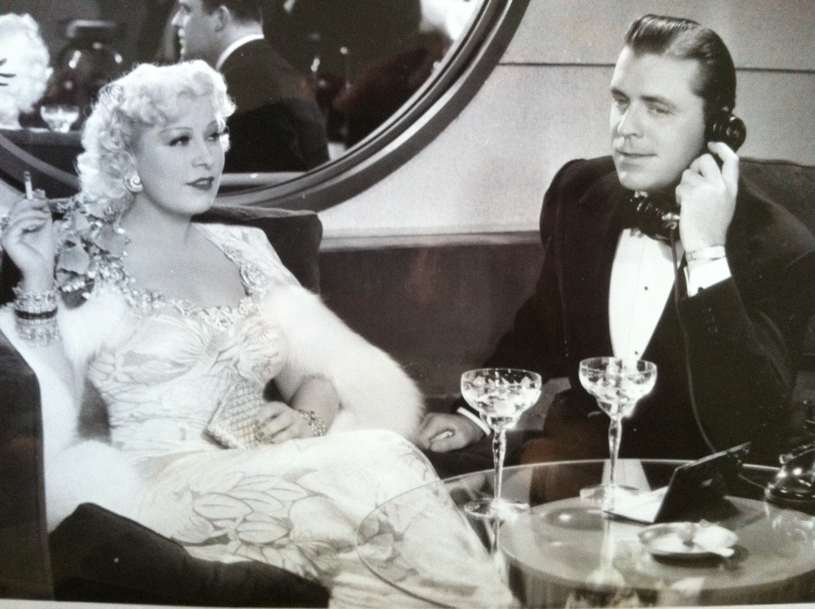Mae West and Lyle Talbot in nightclub