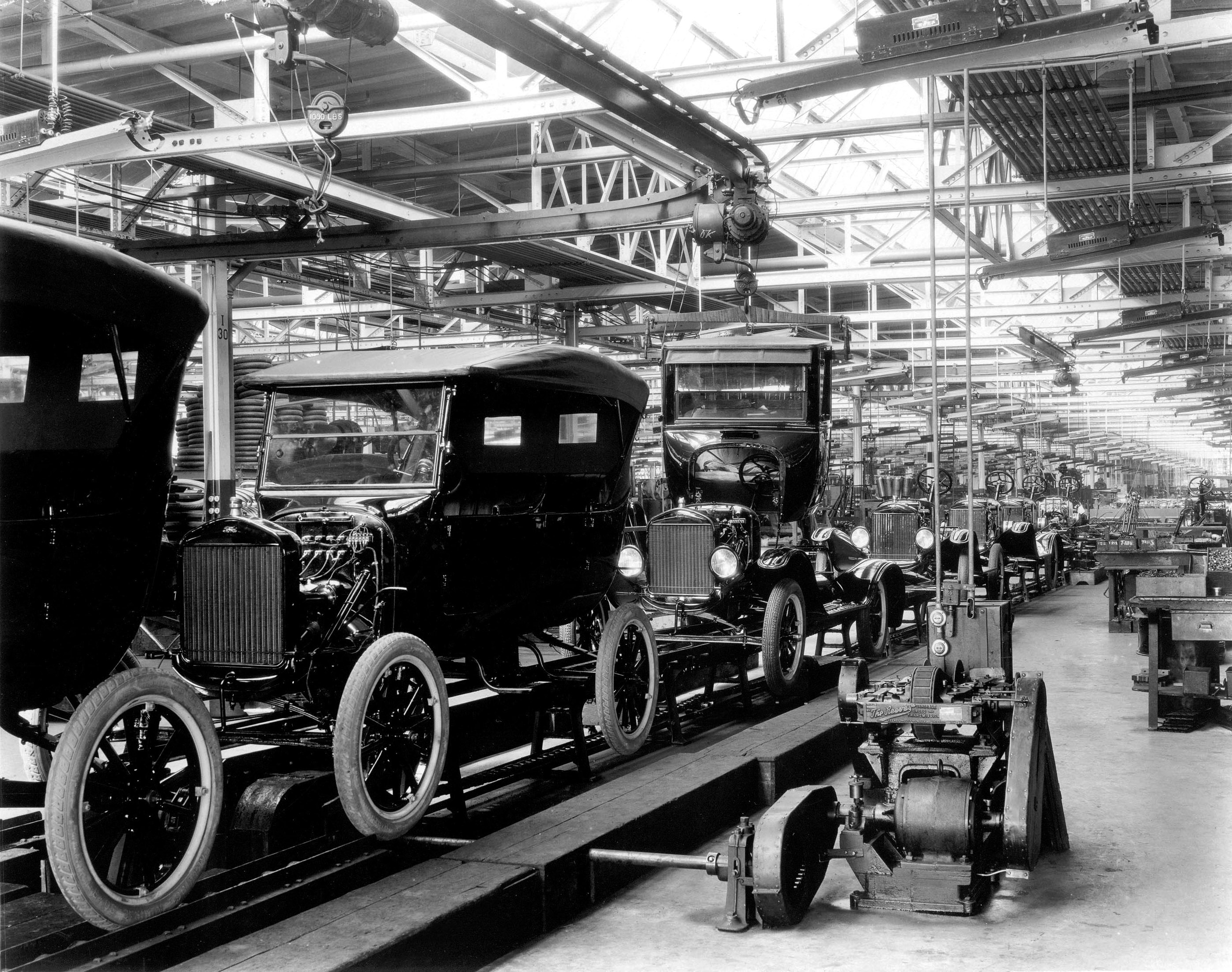 1924 Model T Assembly Line: The 10 millionth Model T was produced on June 4, 1927. From the collections of The Henry Ford and Ford Motor Company (04/22/08)